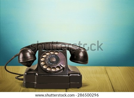 Telephone, Retro Revival, Old-fashioned. - stock photo