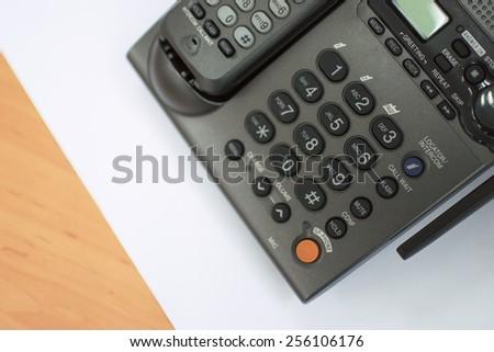 telephone , selective focus on numpad  - stock photo