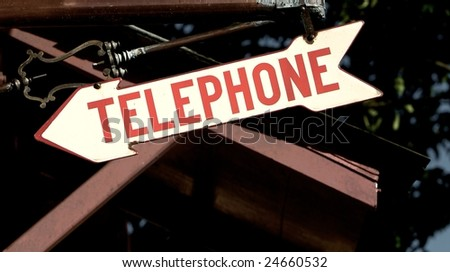 Telephone sign - stock photo