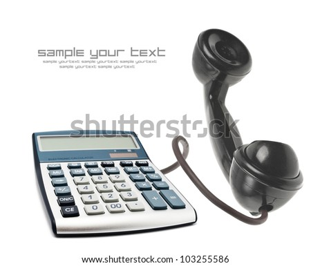 Telephone with calculator - stock photo