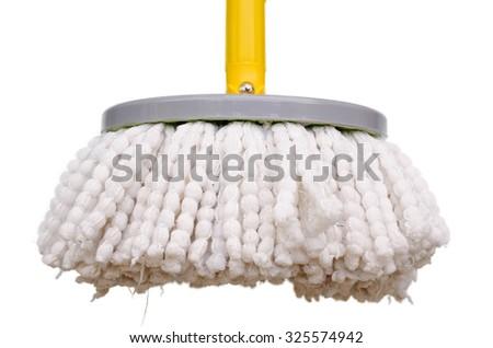 Telescopic mop on White background - stock photo