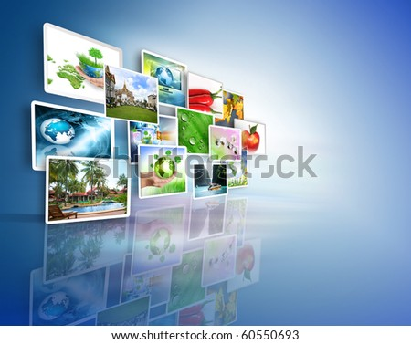 Television and internet production technology concept - stock photo