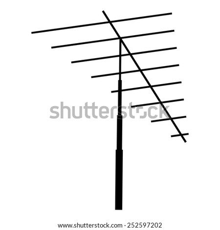 Television antenna isolated on a white background - stock photo