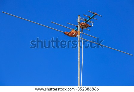 television antenna which blue sky