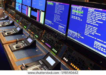 Television Broadcast Gallery  - stock photo