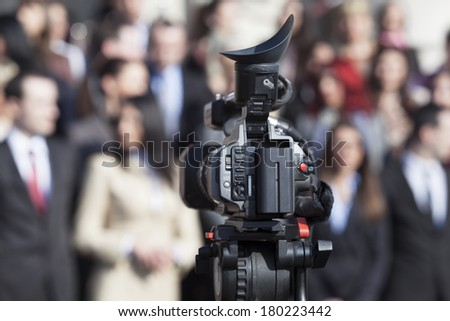 Television broadcasting  - stock photo