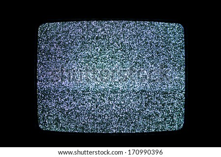 Television noise - stock photo