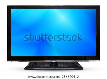 Television sky or monitor landscape isolated on white background. - stock photo