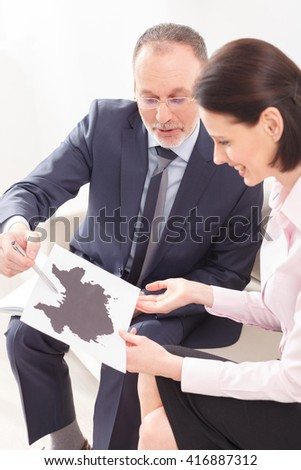 Tell me what you see on this picture - stock photo