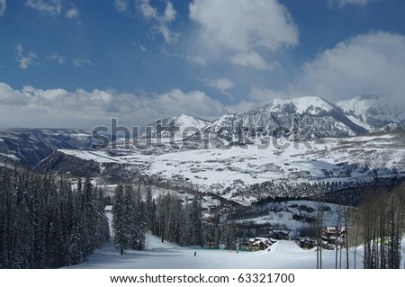Telluride Ski Area - stock photo