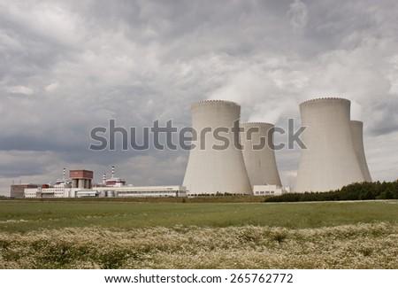 Temelin, Czech Republic, Europe. Nuclear power plant. - stock photo