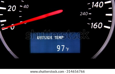 Temperature gauge  - stock photo