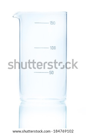 Temperature resistant cylindrical beaker for measurements 150ml