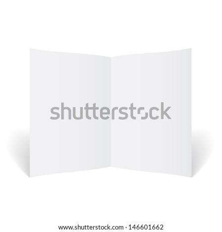 Template booklet, blank paper, - stock photo