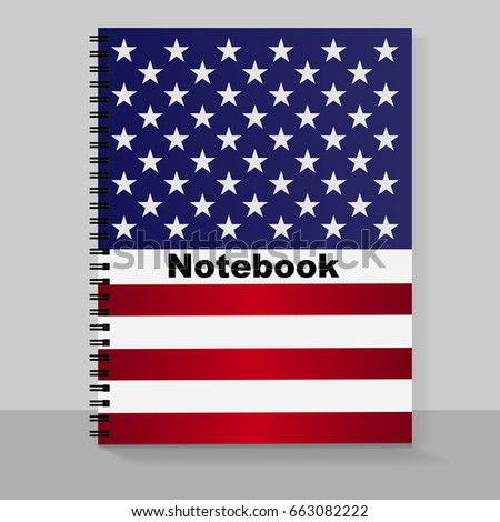 template cover a 4 notebook individual design stock illustration