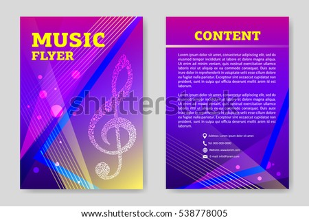 Template Flyer Design Creative Graphic Illustration Stock