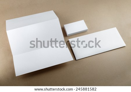 Template for branding identity for designers. Isolated with clipping path. - stock photo