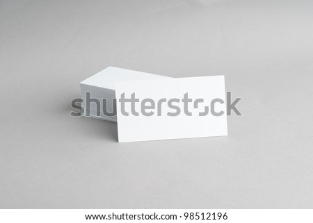 Template for Business Card Presentation - stock photo