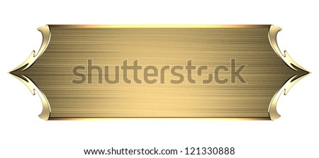Template Writing Gold Nameplate Gold Ornate Stock Illustration - Name plate template