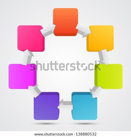 Template for your business presentation (raster copy of vector illustration)