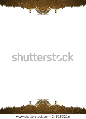 Template gold frame. Design template. Design for site - stock photo