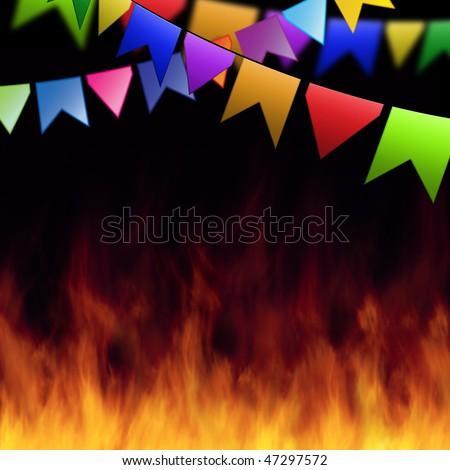 Template Junina Party. - stock photo