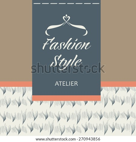 Template  logo for the company. Tailoring of fabric, fur and leather. Apparel & Accessories. - stock photo