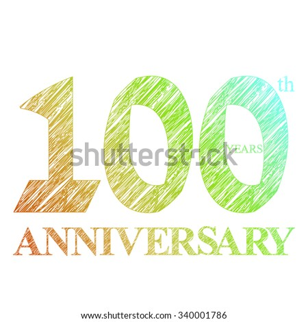template logo with a circle for anniversary 100 - stock photo