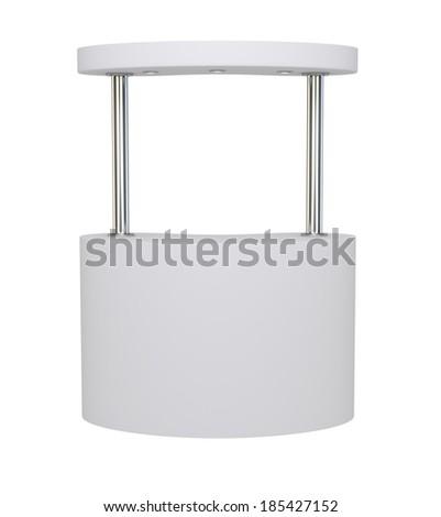 Template promotion kiosk - 3d rendering on white background - stock photo