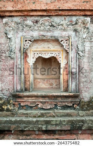 Temple Alter in Hanoi, Vietnam - stock photo