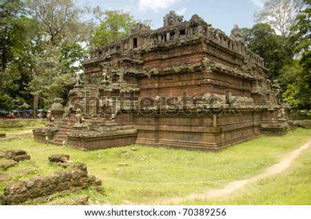 Temple at Angkor, Cambodia - stock photo