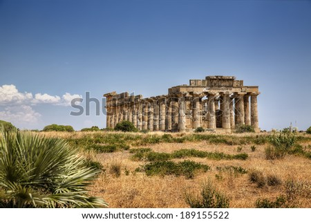 Temple at Selinunte - stock photo