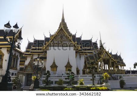 Temple at Wat Phra Kaeo in Bangkok, Thailand - stock photo