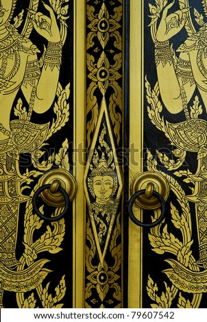 Temple Doors in Thailand