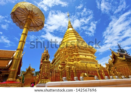 Temple in Chiang Mai, Thailand. - stock photo