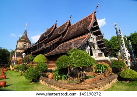 temple in Chiang Mai ,Thailand - stock photo