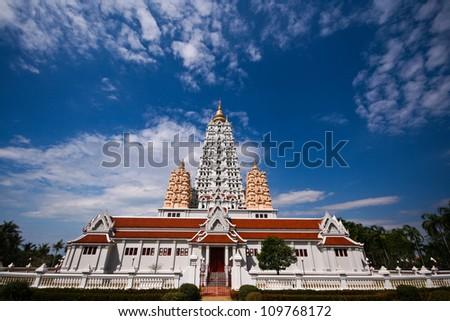 Temple in Chonburi, Thailand. - stock photo
