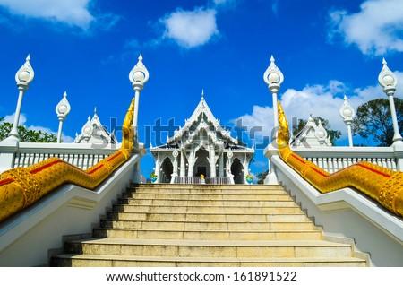 Temple in Krabi Thailand : Keawkowarama, a famous temple in Krabi Thailand - stock photo