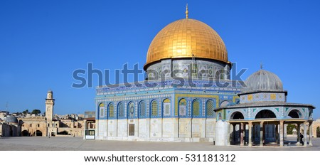 Temple Mount known as the the Noble Sanctuary of Jerusalem located in the Old City of Jerusalem, is one of the most important religious sites in the world.