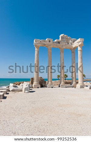 Temple of Apollo in Side, turkish riviera