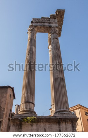 Temple of Apollo Sosianus is a Roman temple dedicated to Apollo in the Campus Martius, next to the Theatre of Marcellus and the Porticus Octaviae, in Rome, Italy.