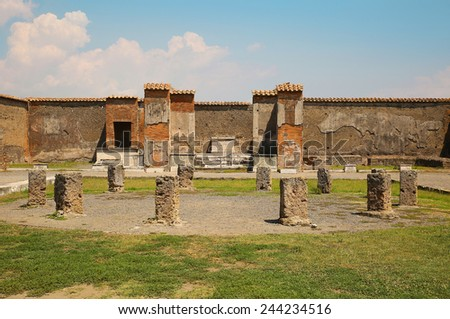 Temple of Apollo. The Ruins of Pompeii, Italy - stock photo