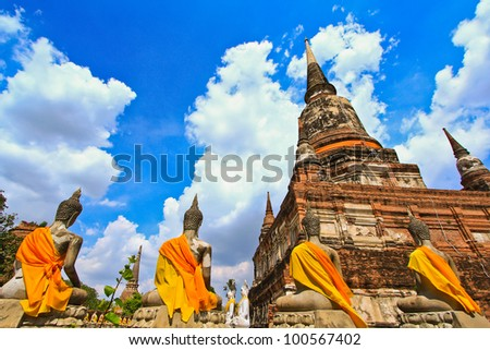 Temple of Ayuthaya, Thailand - stock photo