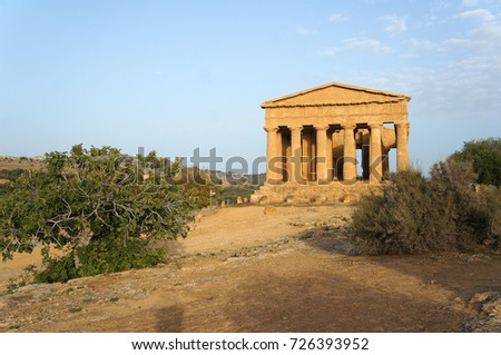 Temple of Concordia in Valley of the Temples of Agrigento, Sicily, Italy
