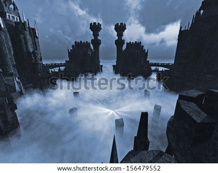 Temple of Darkness in a Fog