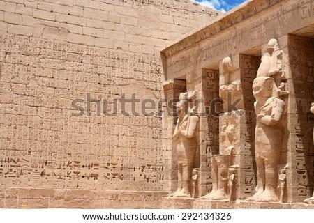 Temple of Edfu in Egypt - stock photo