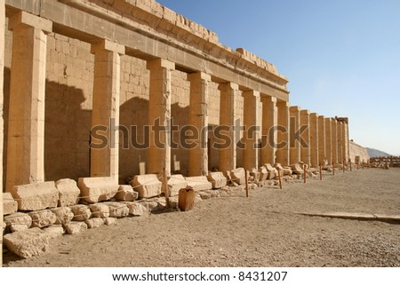 Temple of Hatshepsut in Egypt near The Valley Of The Kings - stock photo