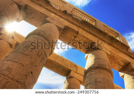 Temple of Karnak (ancient Thebes). Luxor, Egypt - stock photo