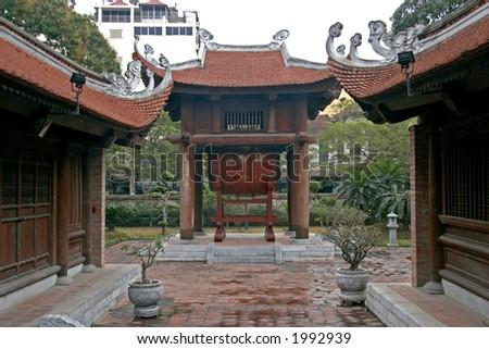 temple of literature, Hanoi, Vietnam - stock photo