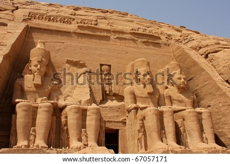 Temple of Ramses II at Abu Simbel, Egypt - stock photo